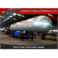 59700 Liters 25 Ton LPG Tank Trailer With 20% Vapor Space ,  LPG Transport Trailer Manufactures