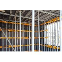 Adjustable Concrete Wall Formwork Q235 steel , Face to plywood for material - saving Manufactures
