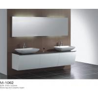 White Bathroom Vanity Double Sink  Above Counter Basin Wall Mounted Floating Manufactures