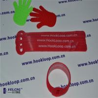 Die Cutting Coloured Cable Ties Velcro Roll , Soft Velcro Ties For Cords