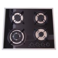 China Built In Installation Home Gas Stove 8mm Tempered Glass Panel Stainless Steel Surface on sale