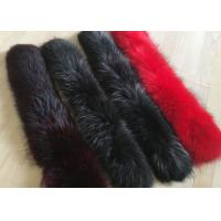 Dyed Genuine Raccoon Black Real Fur Collar Real Warm For Men Jacket / Coat Manufactures