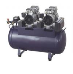Air Compressor Dental Chair Equipment 55L Bottle Volume Supply For 3 Pieces Dental Unit Manufactures