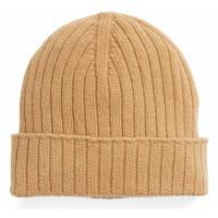 Buy cheap Unisex Wool Winter Hat , Warm Custom Knitted Beanie Hats Plain Color Strings from wholesalers