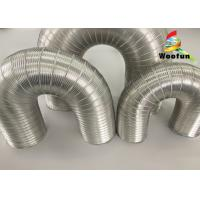 Aeration System Semi Rigid Vent Aluminum Duct Pipe Eco - Friendly For Ventilation Manufactures