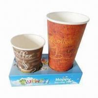 Disposable Cup, Carriers and Sleeves, Used for Carrying Coffee Cup, Made of Gray Cardboard Manufactures