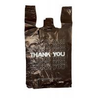 HDPE Material Plastic Bag , Thank You T-Shirt Carry out Bags Black 18 Microns – 500 Bags Per Case Manufactures