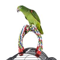 Quality cross cotton rope perch for birds,amazon and conures,colors vary for sale