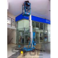 10m Single Mast Blue Hydraulic Lift Ladder 120kg Load For Office Buildings Manufactures