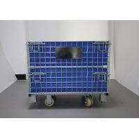 Customized Collapsible Galvanized Industrial Roll Container With Hollow Board