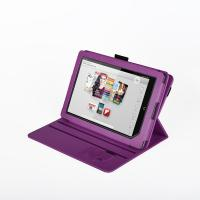 Quality Eco Protective Flip Nook Color Leather Case Stand Purple , 360 Degree Rotating for sale