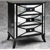 China Black Hollywood Mirrored Night Stands For Bedroom 4mm Mirror Thickness on sale