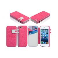 Pink Leather Wallet Cell Phone Case Manufactures
