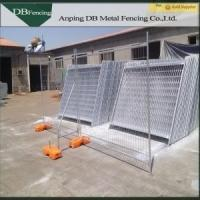 Movable Hot Dipped Galvanized Steel Temporary Fencing / Portable Construction Fence Manufactures
