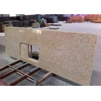 Thailand Gold Granite Island Top Rectangular Basin Hole For Commercial Projects Manufactures