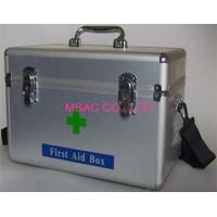 Metal Emergency First Aid Kit Boxes With Straps For Transport , Silver Manufactures