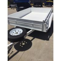 Industrial 10x5 Heavy Duty Tandem Axle Painted Trailer 2000KG With Mudflaps Manufactures