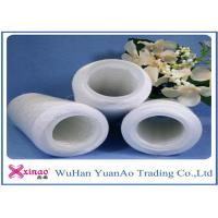 China 602 603 Raw White Bright  Spun Polyester Yarn / Yarn On Dye Tube For Sewing Yarn wholesale