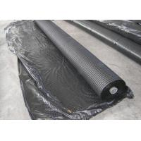Black Runway Fiberglass Geogrid for Asphalt Wall , High Tensile Manufactures