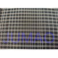 Black And Silver Color Metal Glass Laminated Mesh Fabric For Art Glasses Manufactures