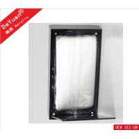 Silk Printed Black Acrylic Tissue Box Holder With Magnetic Base Manufactures