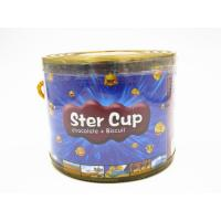 4g Star Chocolate Cup In PVC Jar Sweety Chocolate With Crispy Cookie Manufactures
