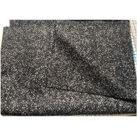 Herringbone Heavy Wool Fabric Terry Cloth Dry Cleaning Black And White Manufactures