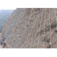 Galvanized Steel Wire Defend Slope Fence Mesh / Protection Wire Mesh Netting For Slope Manufactures