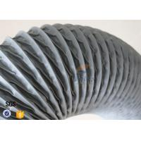PVC Coated Fiberglass Fabric Flexible Air Duct Grey Waterproof 200MM 5M 260℃ Manufactures