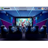 Shopping Mall 6D Cinema Equipment 6 Seats Motion Chairs Electric Pneumatic System Manufactures