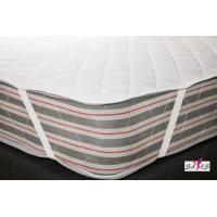 Quilted White Waterproof 100 % Cotton High Density Fabric Hotel Mattress Pad Manufactures