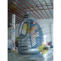 Blue Giant Tarpaulin Inflatable Product Replicas , Blow Up Bottle For Advertisement Manufactures