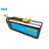 Rechargeable RC Car Battery 35C 14.8V 1800mAh Li Polymer For Mini Helicopter / Airplane Manufactures
