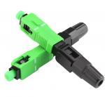 Ftth Sc / Apc Fiber Optic Accessories Quick Connector Single Mode Fiber Adapter Manufactures
