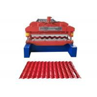 Waterproof Glazed Tile Roll Forming Machine Middle Plate 16mm Weight 3.5-6 Ton Manufactures