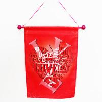 China Holiday Valentine Flag Banner Heart on sale