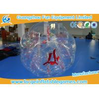 Clear Inflatable Bubble Ball Red Straps Adults Inflatable Belly Ball Bump Bubbles Manufactures
