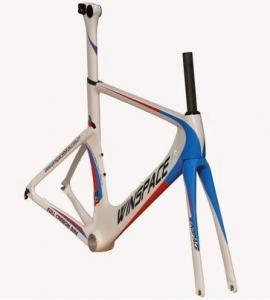 China Single Speed Aero Track Bike Frame Carbon Fiber 700C Customized Aero Multi Color on sale