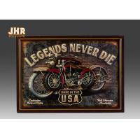Resin Motorcycle Wall Decor Antique Wood Pub Signs Decorative Wall Plaques Manufactures