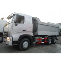 HOWO A7 6X4 Dump Truck With One Sleeper Cabin Front Axle Steering With Double T - Cross Section Beam