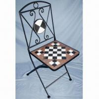 Mosaic Chair, Measures 38 x 90cm, Made of Metal and Mosaic Manufactures