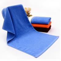 Hot sale blue cotton bath towels for stock pattern sale or logo embroidered Manufactures