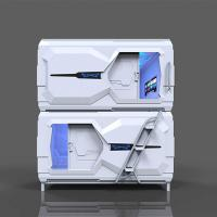 Technical Space Capsule Bed , Japanese Pod Beds For Capsule Hotel Double Bed Manufactures