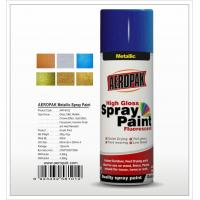 China Aeropak  aerosol can 400ml 10oz metallic spray paint with all colors acrylic on sale