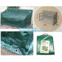 Green Waterproof pe plastic outdoor garden furniture covers,lounge bench covers,funiture series,garden bench cover, bag Manufactures