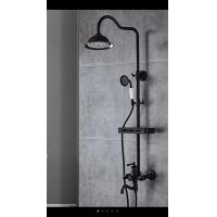 Black shower set /stainless steel adjustable bath shower column shower set /shower dusche/shower douche/chuveiro Manufactures