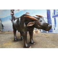 China Life Size Artificial Cow , Vivid Fiberglass Animal Cattle Statues on sale