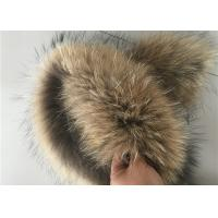 Windproof Real Fur Coat Collar , Genuine Toddler Fur Collar With Satin Lining Manufactures