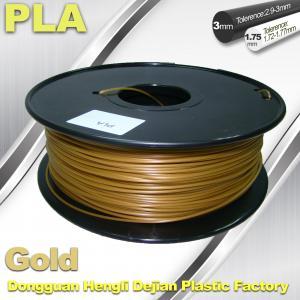 Cubify And Up 3D Printer Filament PLA 1.75mm 3.0mm Gold Filament Manufactures