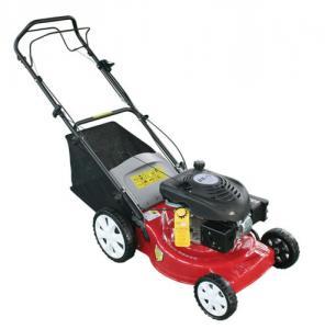 China 18 Inch Hand push Gasoline lawn mower , Petrol / Gas powered lawn mower on sale